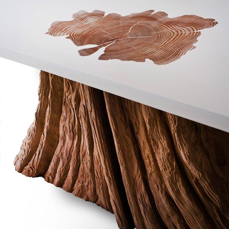 Tavolo in legno naturale dal design originale n.14