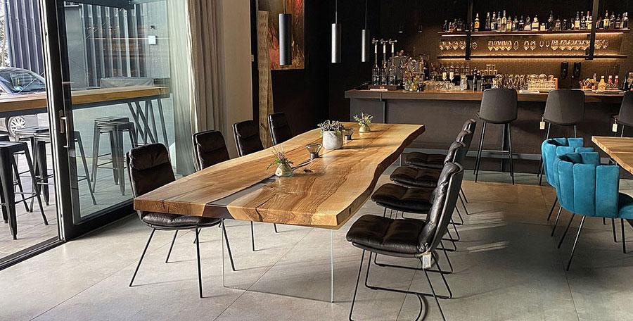 Tavoli in legno naturale di design