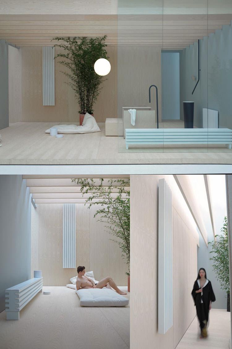 Termoarredo bagno dal design moderno n.18
