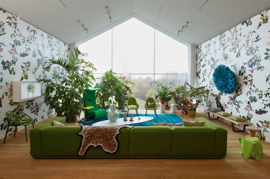 Arredare il salotto con piante da interno n.09
