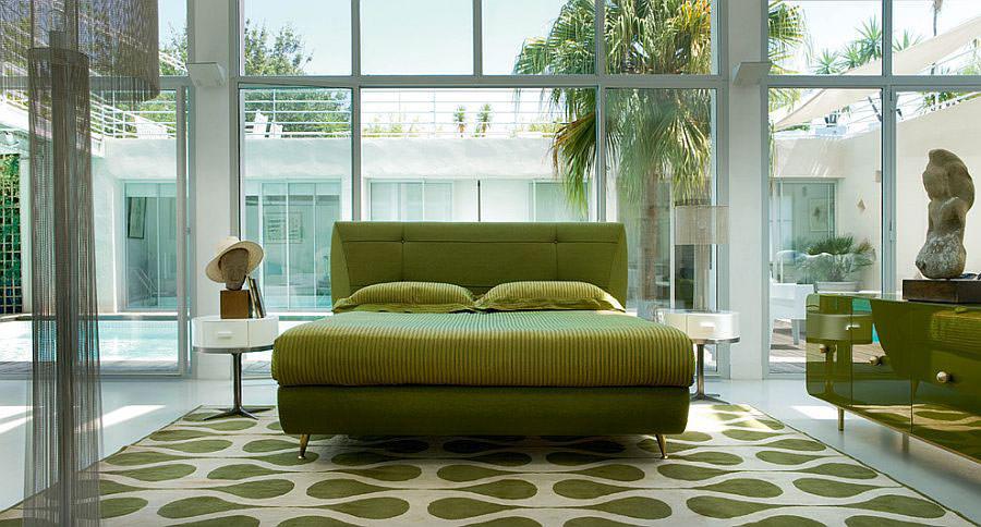 Camera da letto nelle tonalità del verde n.02