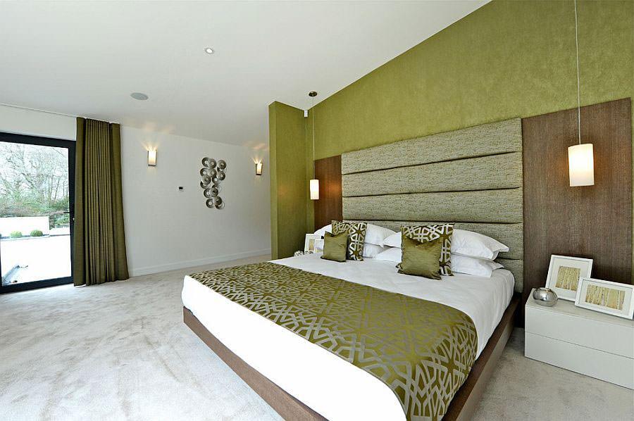 Camera da letto nelle tonalità del verde n.05