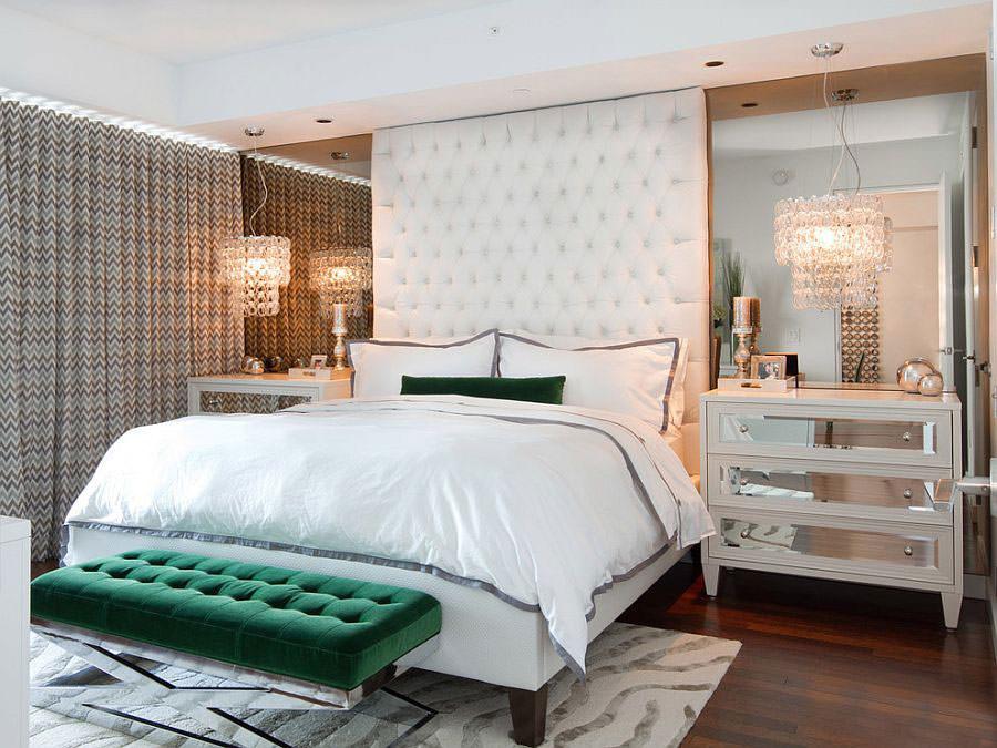Camera da letto nelle tonalità del verde n.07