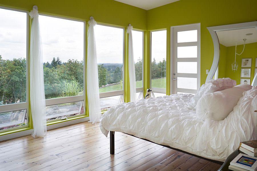 Camera da letto nelle tonalità del verde n.08