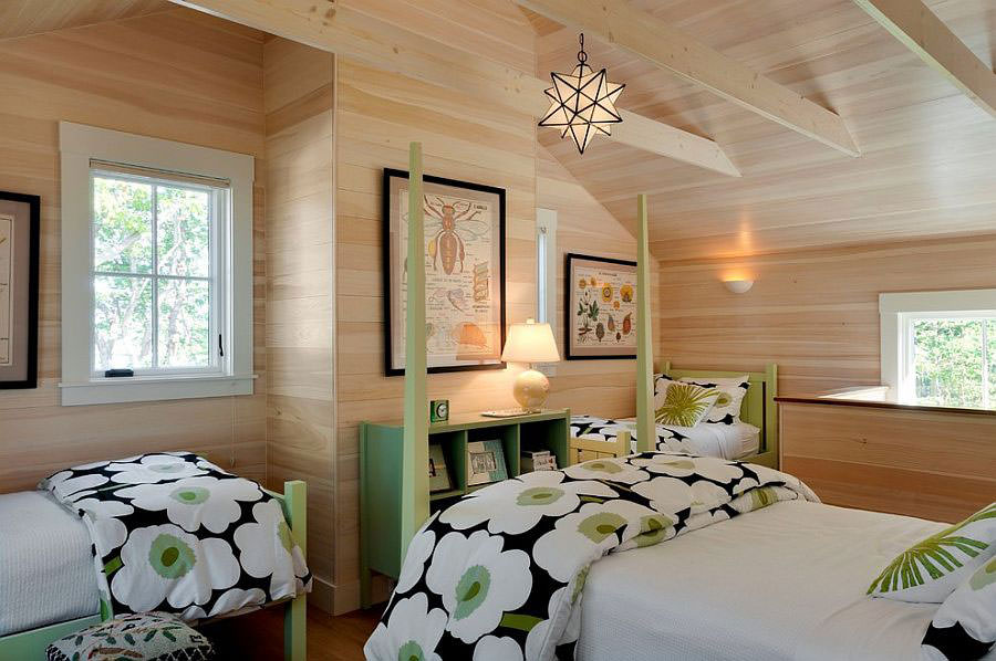 Camera da letto nelle tonalità del verde n.09