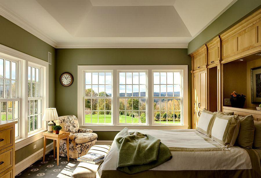 Camera da letto nelle tonalità del verde n.17