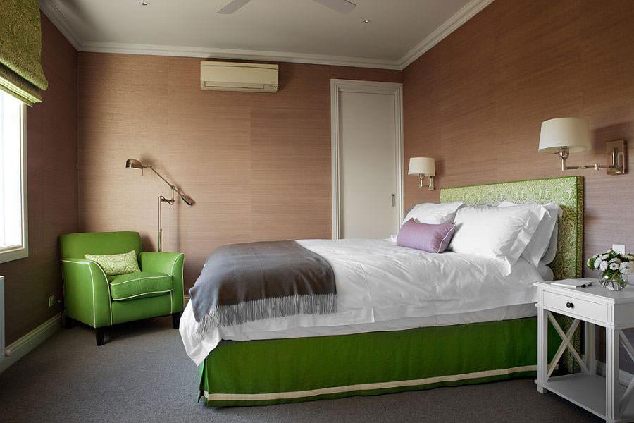 Camera da letto nelle tonalità del verde n.20