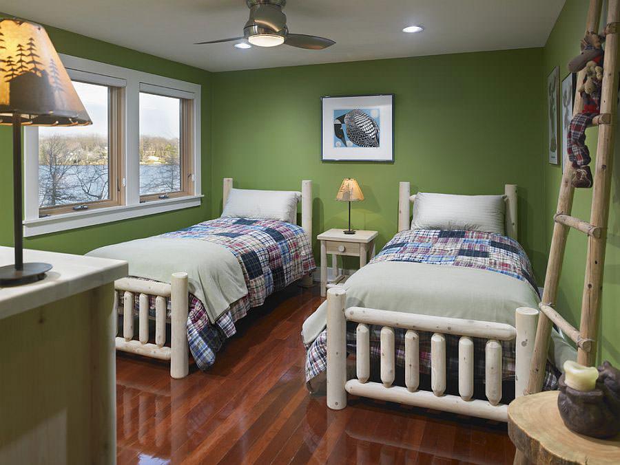 Camera da letto nelle tonalità del verde n.21