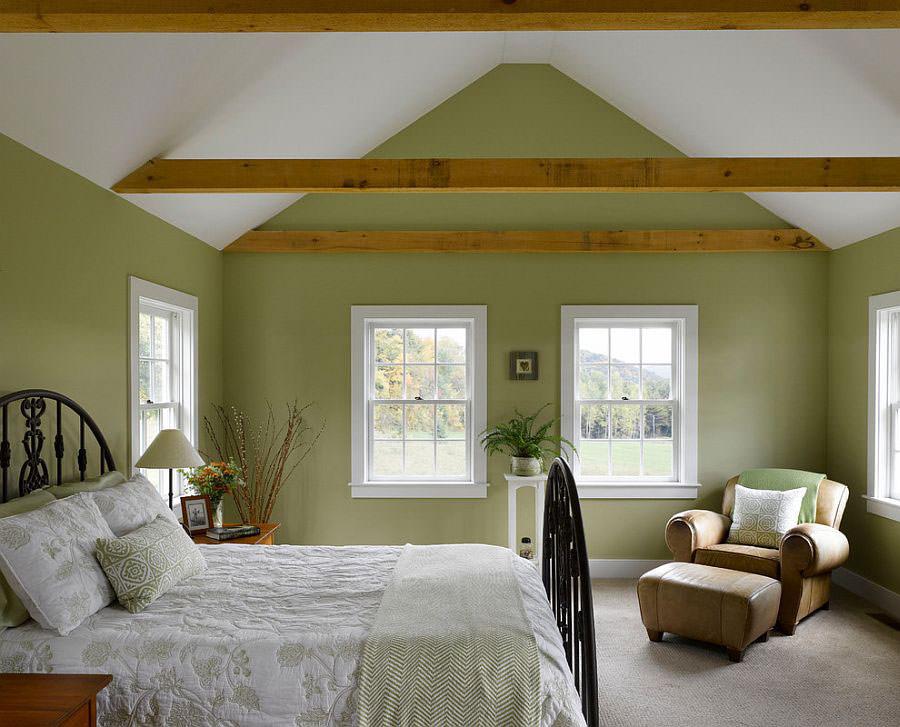 Camera da letto nelle tonalità del verde n.23
