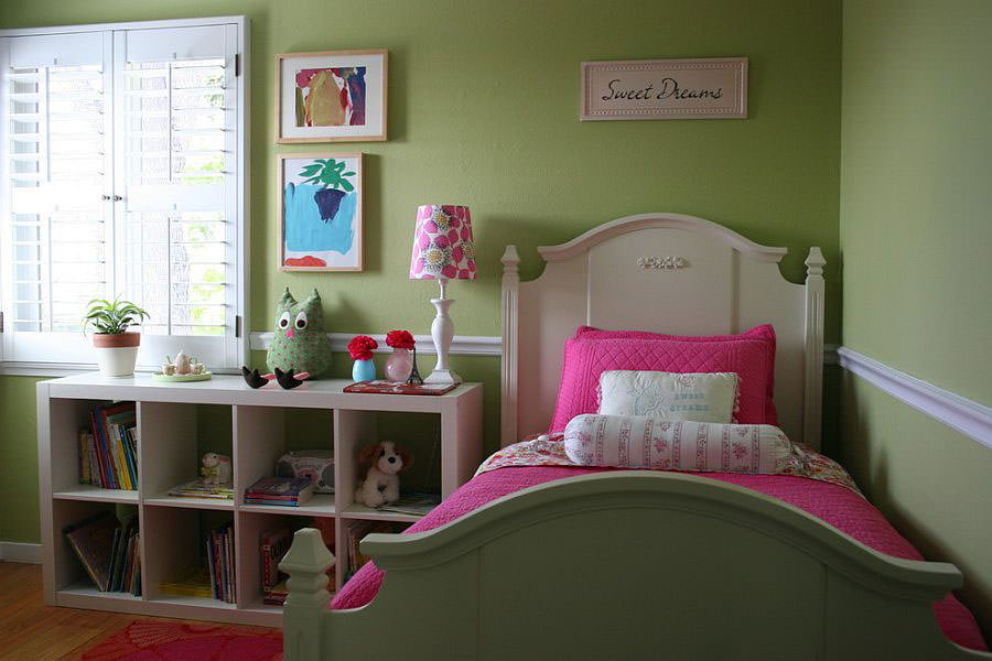 Camera da letto nelle tonalità del verde n.24