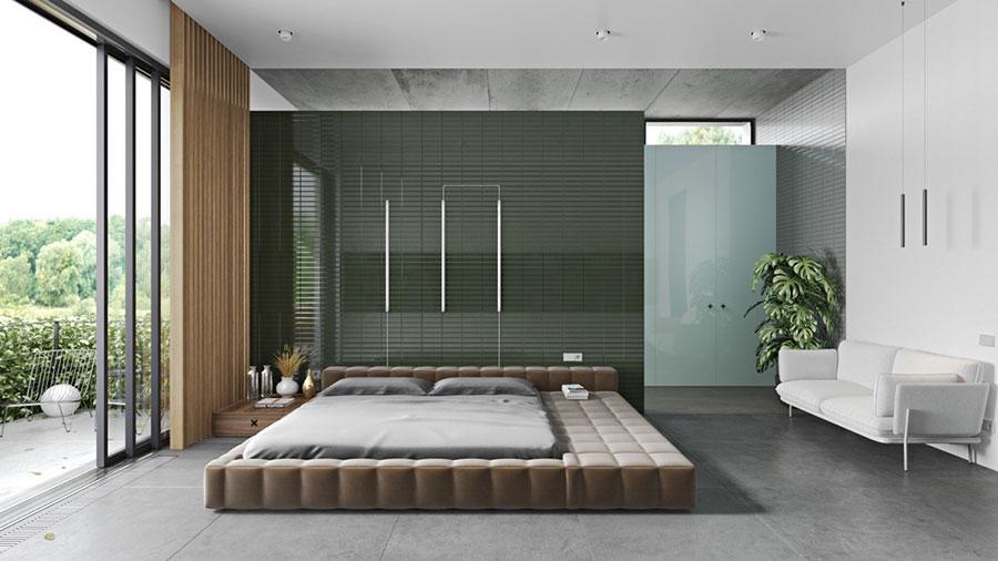 Idee per arredare camere da letto verde di design n.01