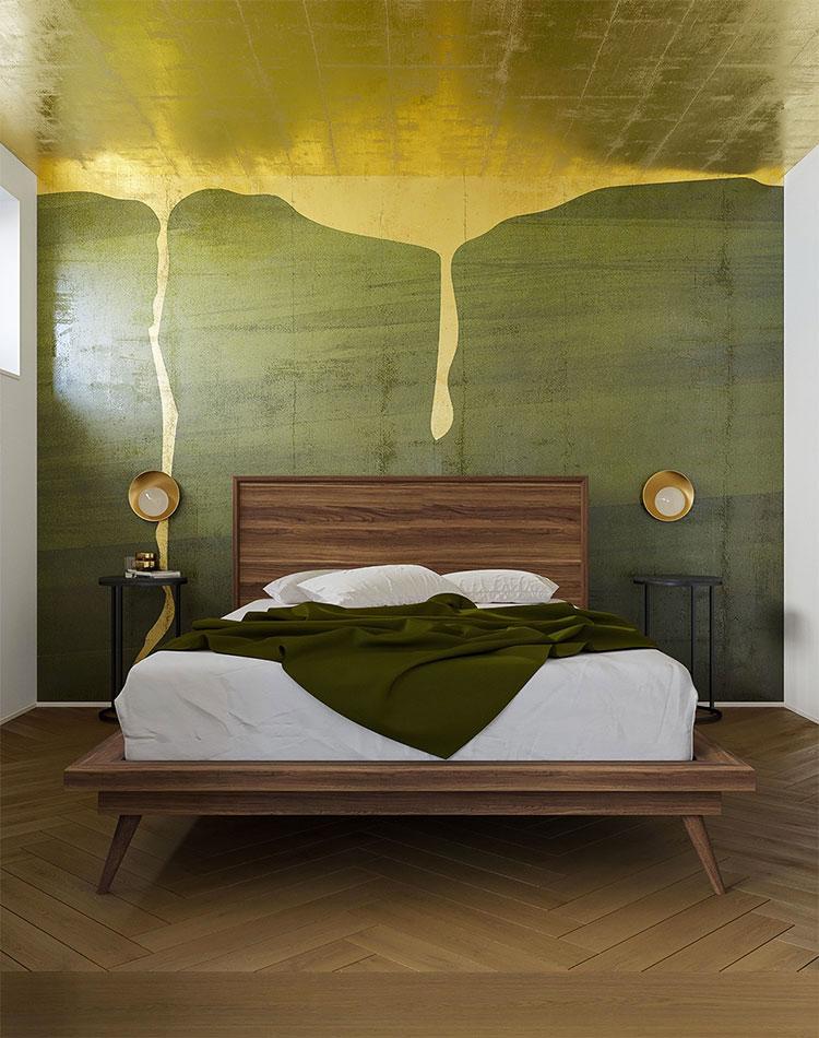 Idee per arredare camere da letto verde di design n.03