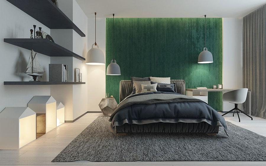 Idee per arredare camere da letto verde di design n.05