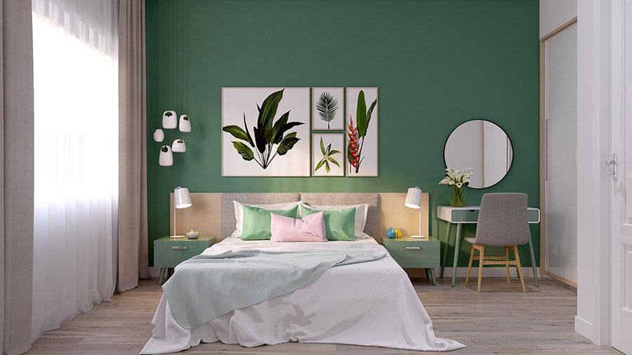 Idee per arredare camere da letto verde di design n.06