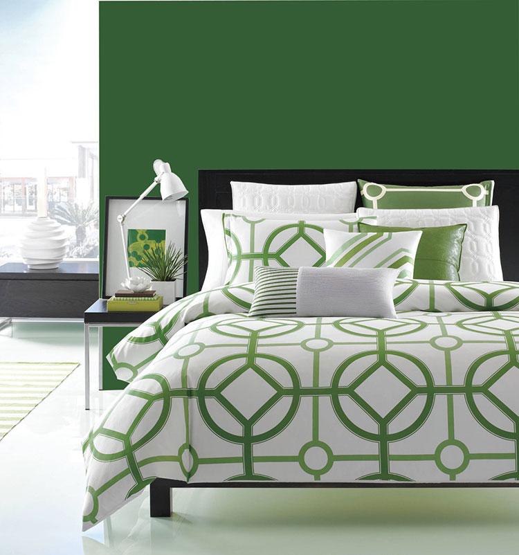 Idee per arredare camere da letto verde di design n.11