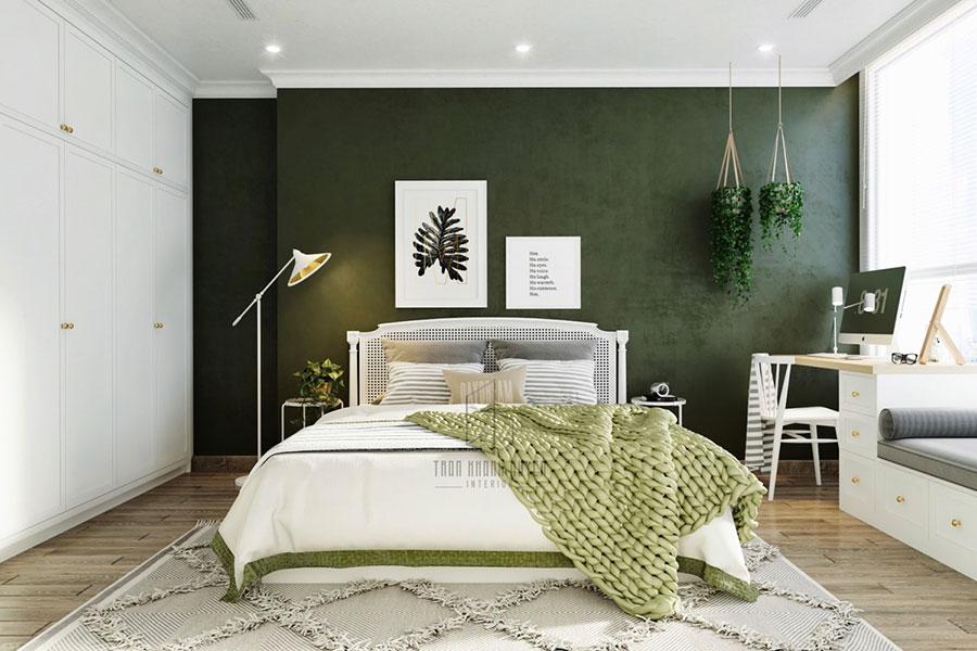 Idee per arredare camere da letto verde di design n.12