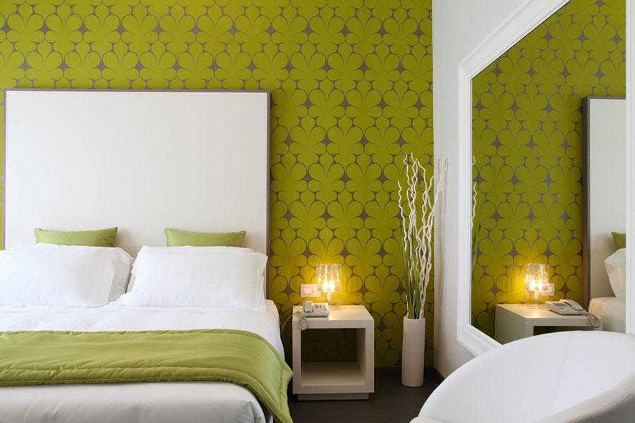 Idee per arredare camere da letto verde di design n.14