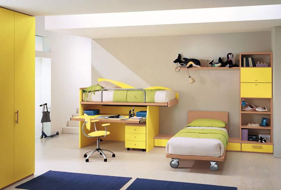 Cameretta per bambini simpatica e colorata n.08