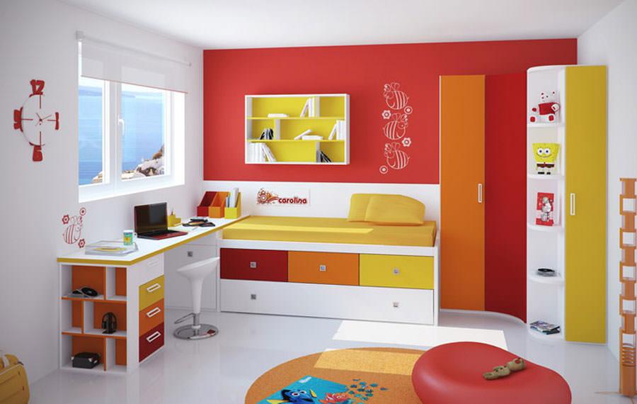Cameretta per bambini simpatica e colorata n.09