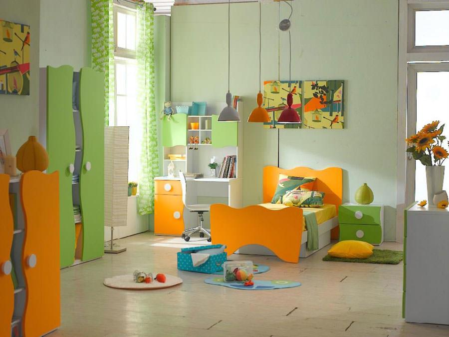 Cameretta per bambini simpatica e colorata n.24