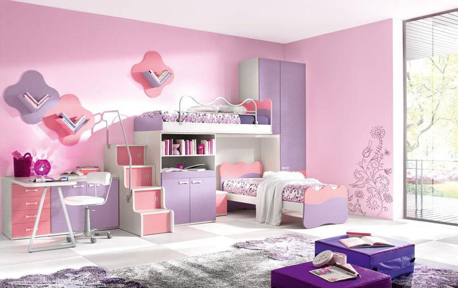 Camerette Per Neonati Rosa : Idee per colori di pareti di camerette per bambini mondodesign
