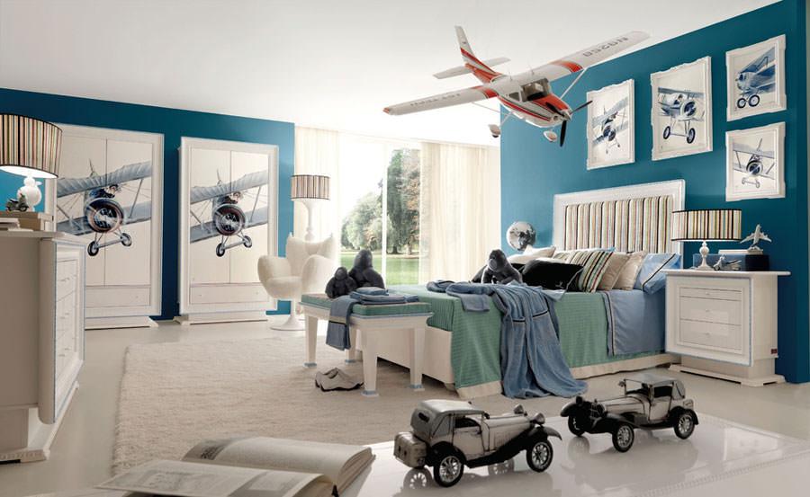 Idee per camerette con pareti blu n.2
