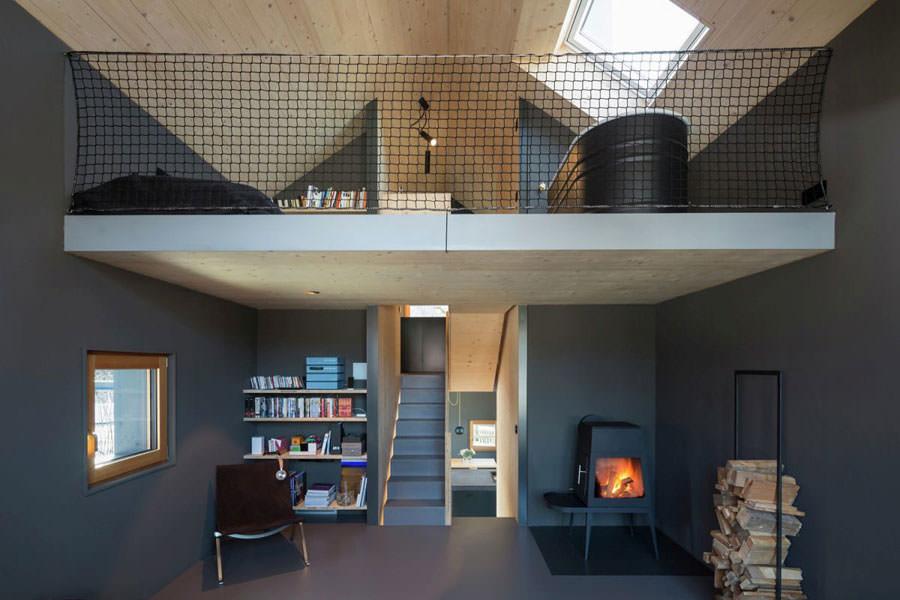 Interno della casa in legno in Baviera