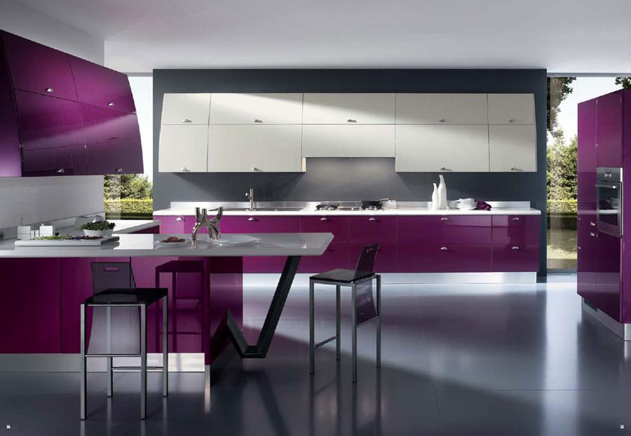 Modello di cucina open space n.04
