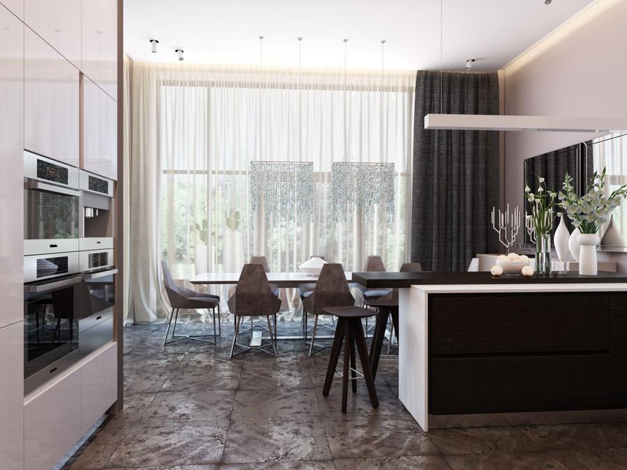 Modello di cucina open space n.19