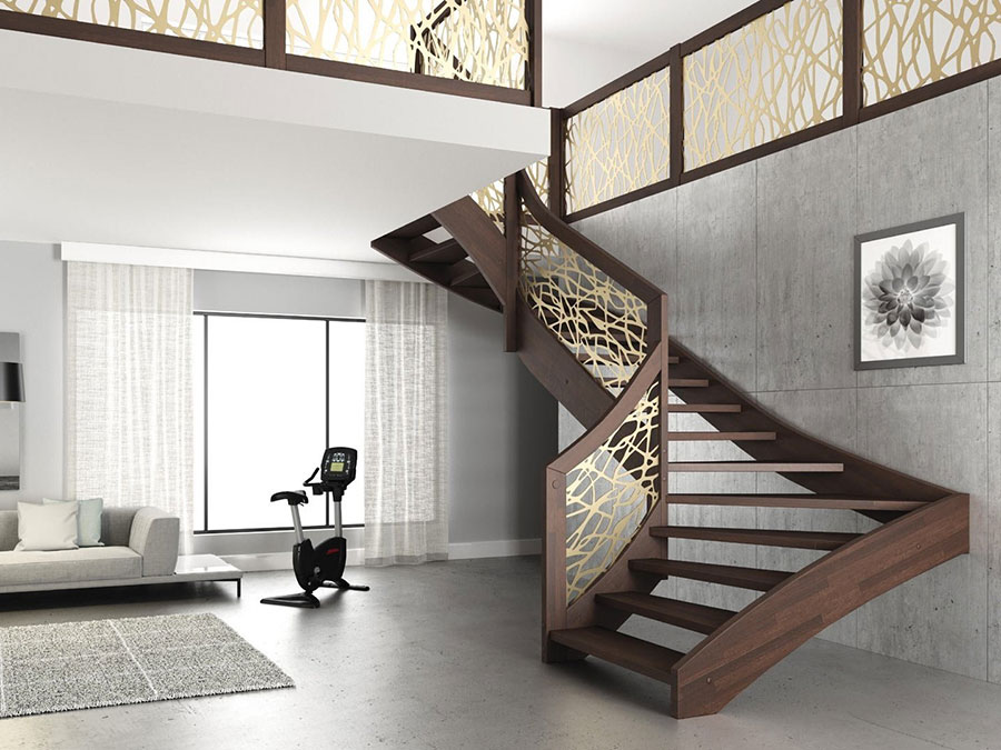 Scale da interni dal design moderno n.27