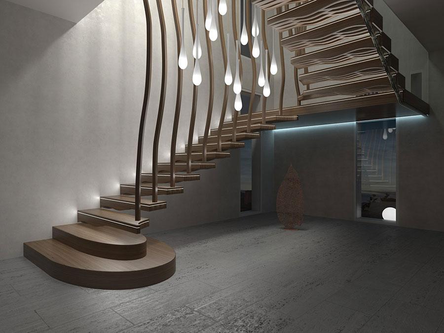 Scale da interni dal design moderno n.31