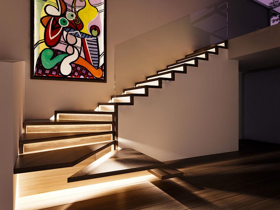 Scale da interni dal design moderno n.32