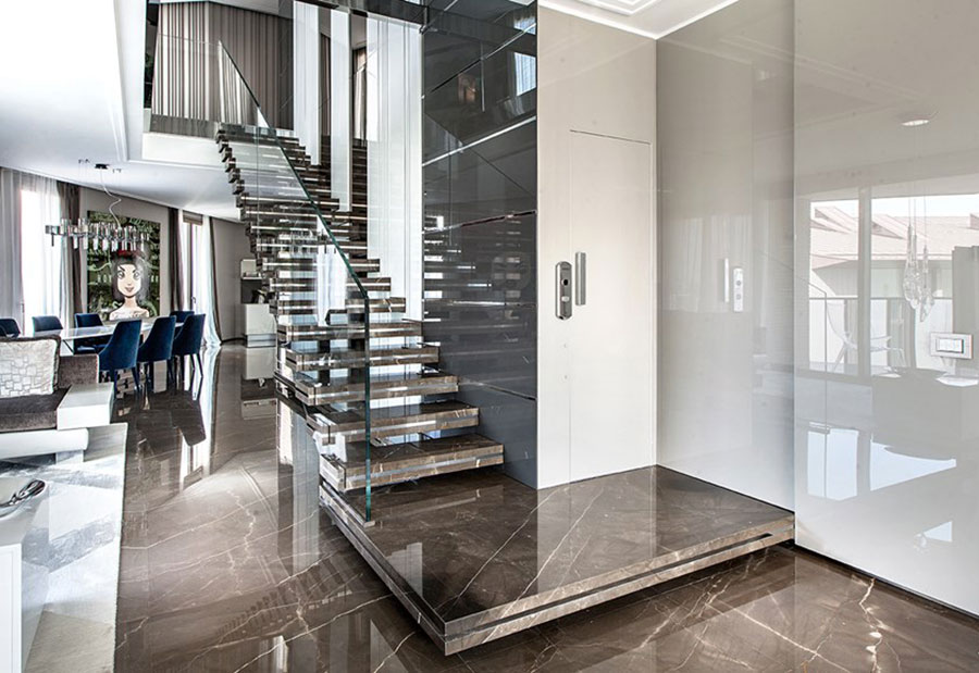 Scale da interni dal design moderno n.40