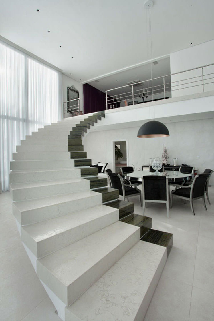 Scale D Interni Moderne.25 Spettacolari Esempi Di Scale Moderne Per Interni Mondodesign It