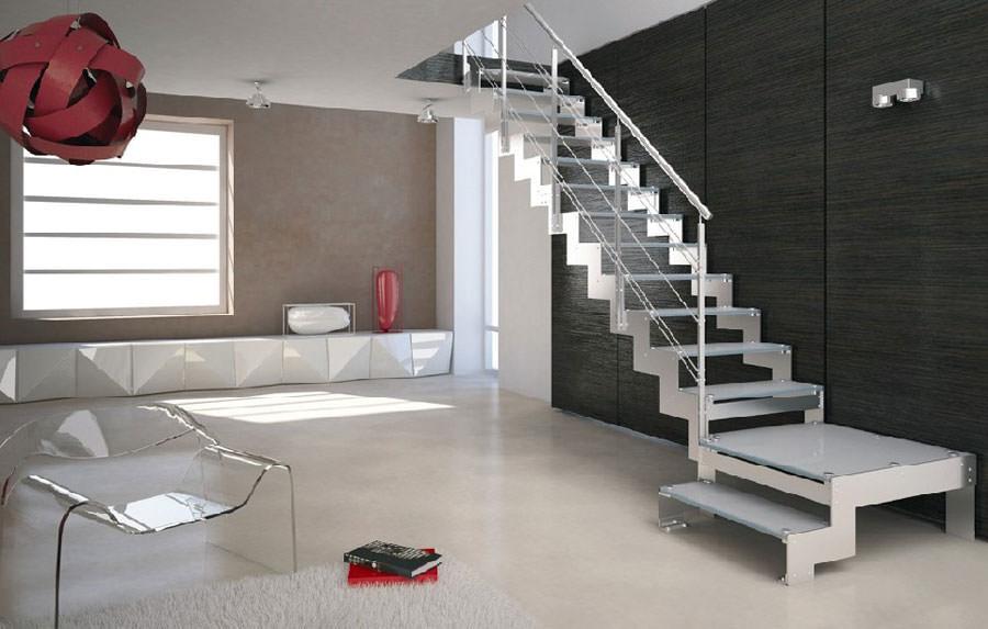 Scale da interni dal design moderno n.18
