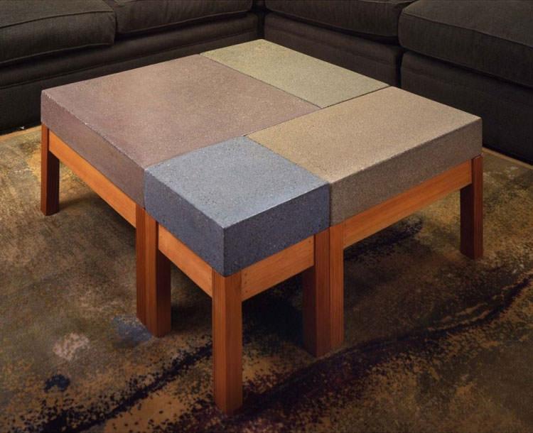 Modello di tavolino da salotto modulare n.02
