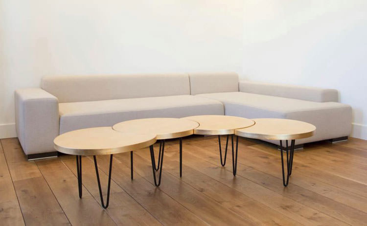 Modello di tavolino da salotto modulare n.04
