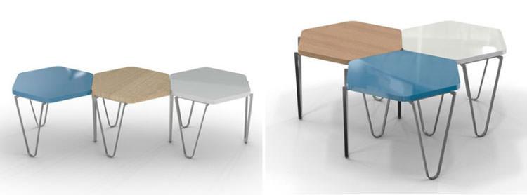 Modello di tavolino da salotto modulare n.05