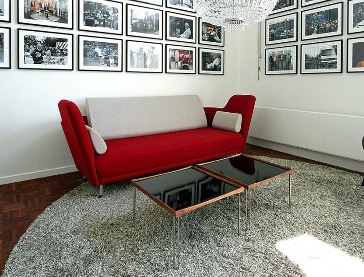 Modello di tavolino da salotto modulare n.13