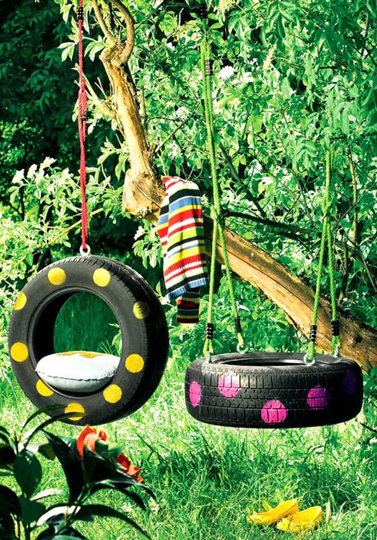 Come creare delle altalene con pneumatici di riciclo