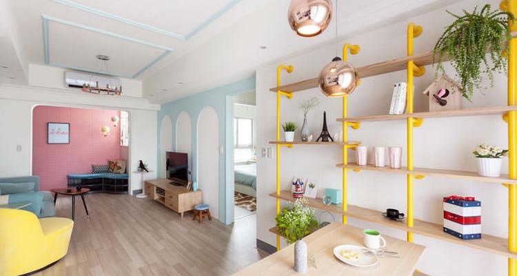 20 bellissime idee per arredare casa con colori pastello for Idee originali per arredare casa