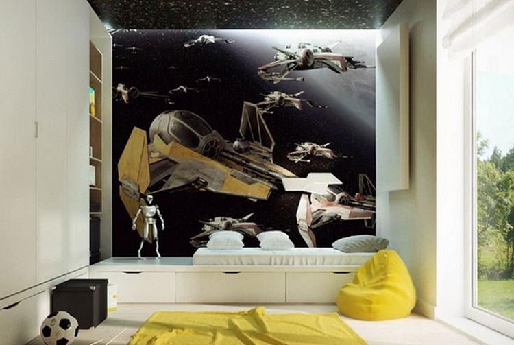 Cameretta per ragazzi con decorazioni murali n.17