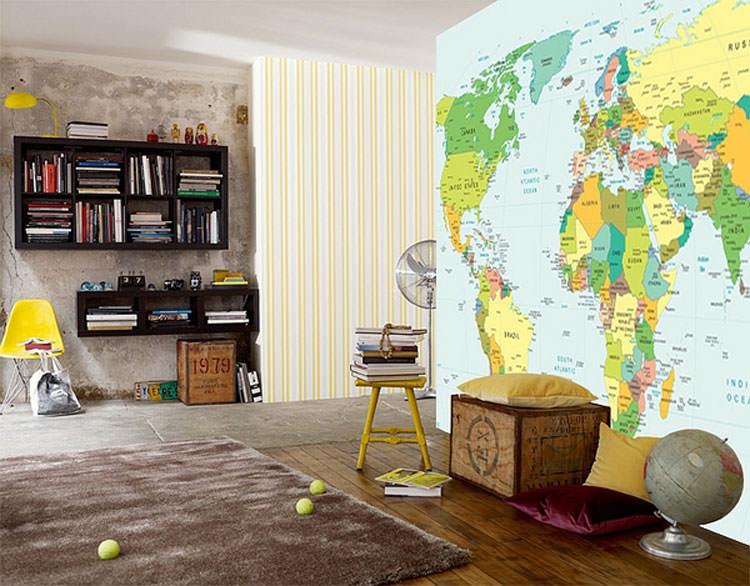 Camerette bambini pareti colorate - Decorazioni murali per camerette bambini ...