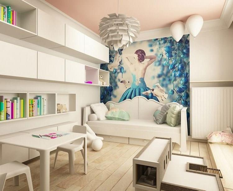Cameretta per ragazzi con decorazioni murali n.27