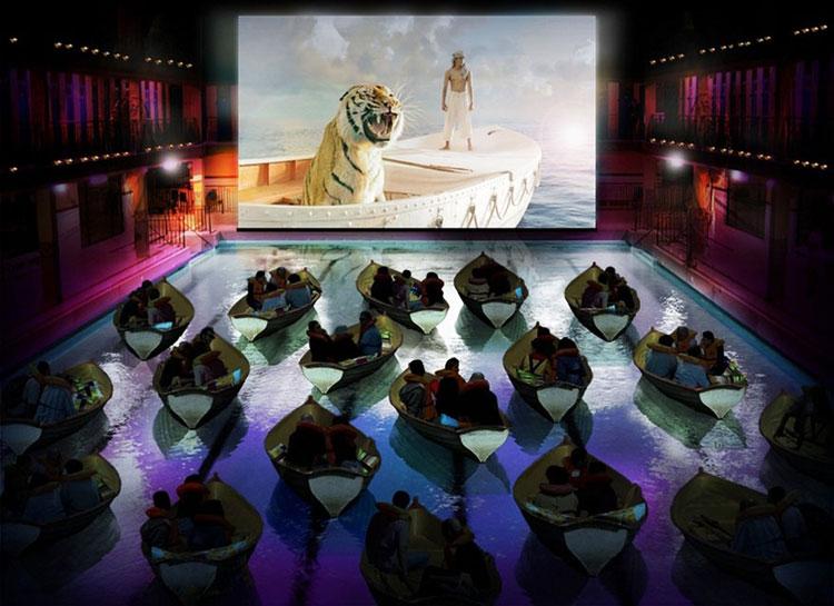Immagine del cinema nella Piscina Edouard Pailleron a Parigi