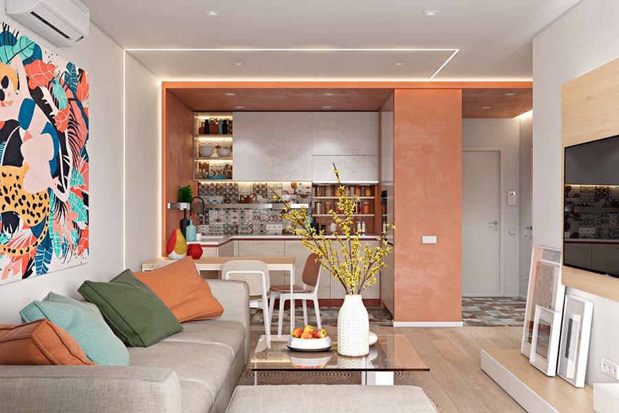 Idee per una cucina con pareti colorate particolari n.03