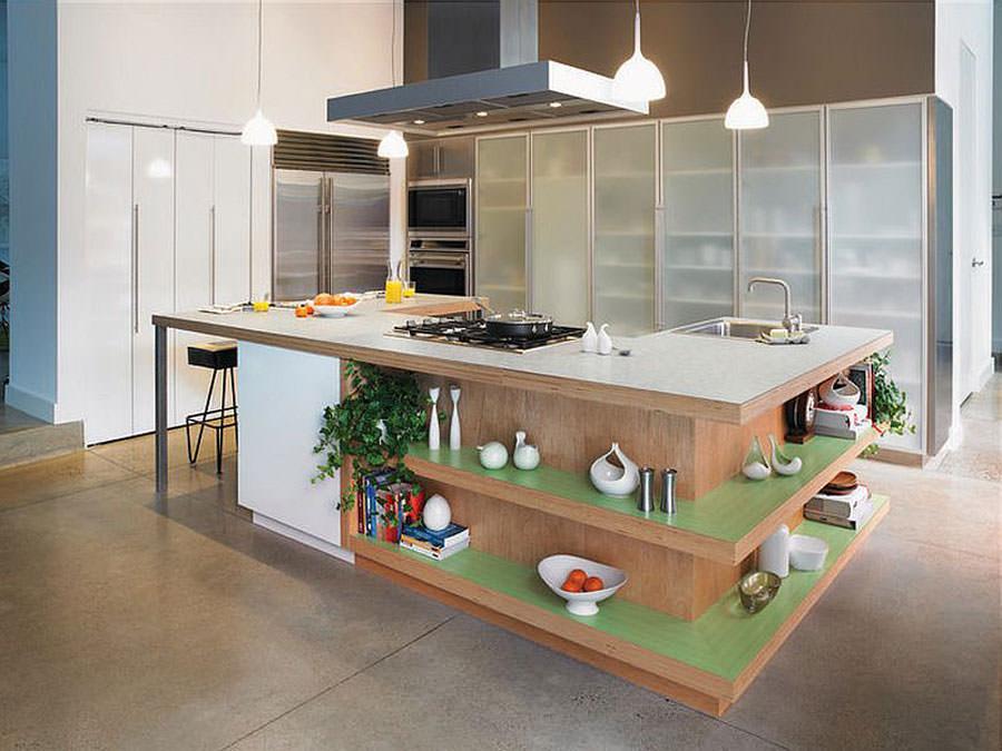 Modello di cucina con isola a giorno n.01