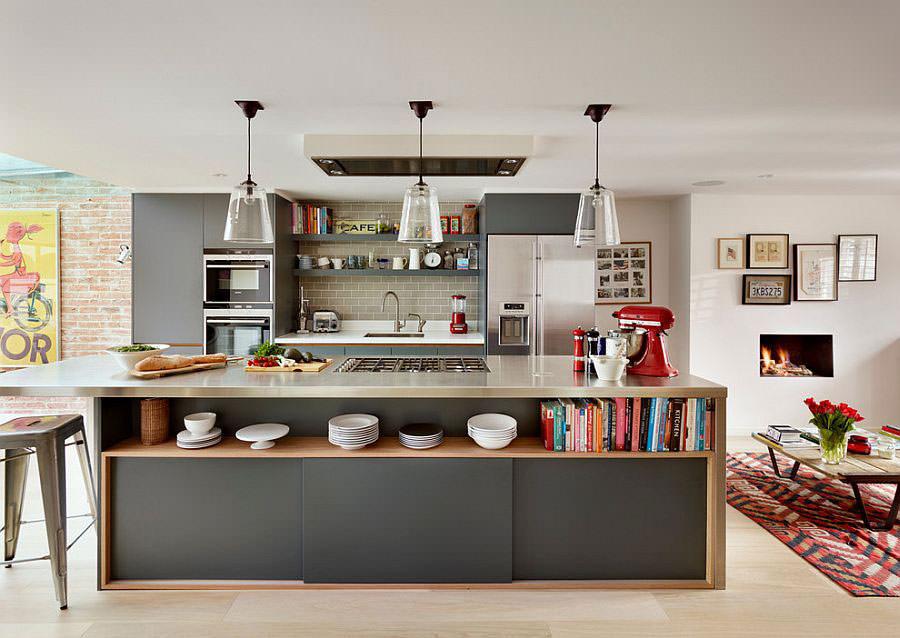 Modello di cucina con isola a giorno n.05