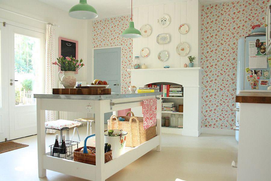 Modello di cucina con isola a giorno n.16