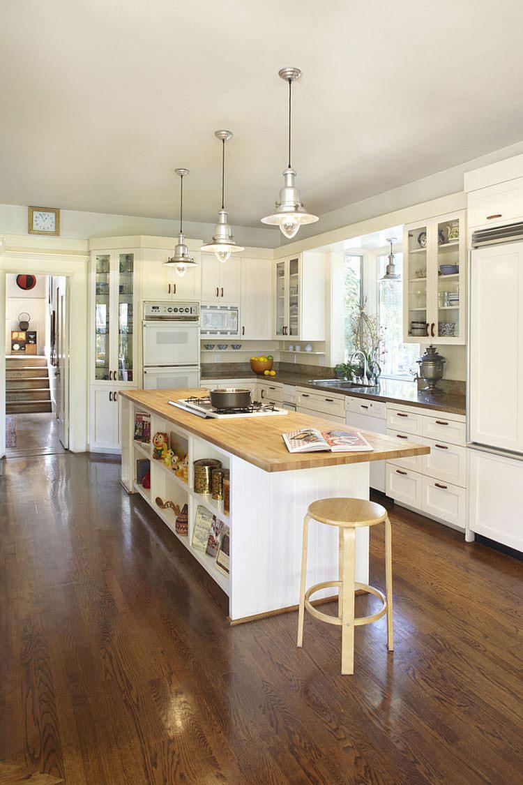 Modello di cucina con isola a giorno n.17